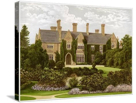 Oxley Manor, Staffordshire, Home of the Staveley-Hill Family, C1880-AF Lydon-Stretched Canvas Print