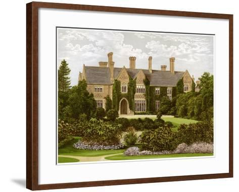 Oxley Manor, Staffordshire, Home of the Staveley-Hill Family, C1880-AF Lydon-Framed Art Print