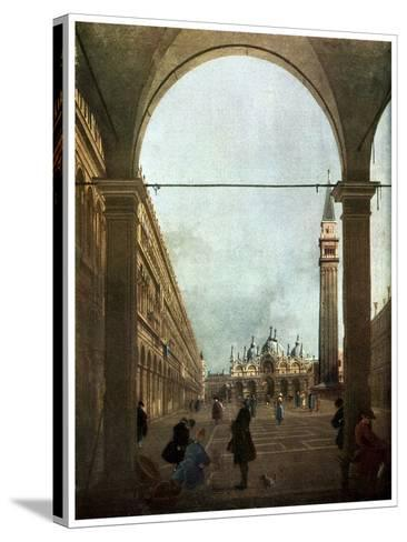 The Piazza, Venice, C1756-Canaletto-Stretched Canvas Print