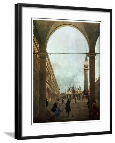 The Piazza, Venice, C1756-Canaletto-Framed Art Print