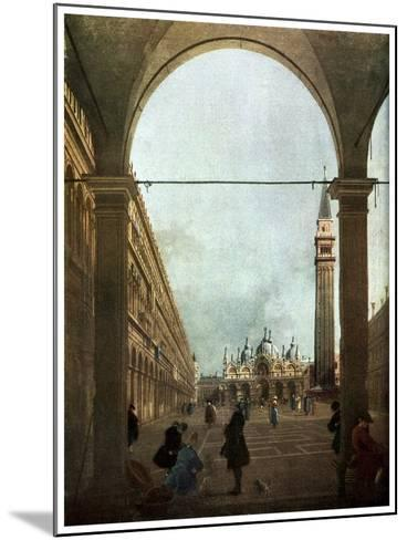 The Piazza, Venice, C1756-Canaletto-Mounted Giclee Print