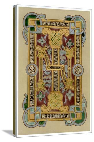Illuminated Initials I and N, 9th Century--Stretched Canvas Print