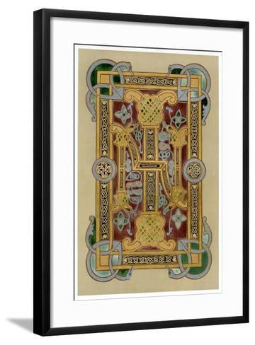 Illuminated Initials I and N, 9th Century--Framed Art Print