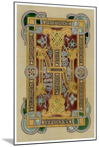 Illuminated Initials I and N, 9th Century--Mounted Giclee Print