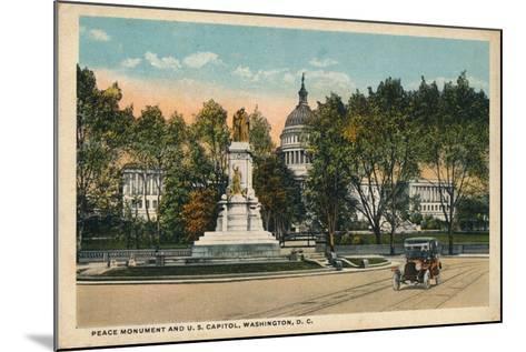 Peace Monument and U.S. Capitol, Washington, Dc, C1910--Mounted Giclee Print