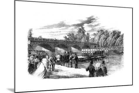 Experiments with Captain Fowke's Pontoon Bridge on the Serpentine, Hyde Park, London, 1860--Mounted Giclee Print