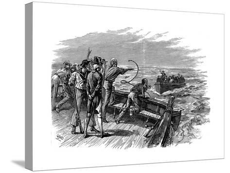 Mutiny of the Crew of HMS Bounty, 28 April 1789--Stretched Canvas Print