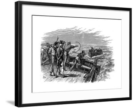 Mutiny of the Crew of HMS Bounty, 28 April 1789--Framed Art Print