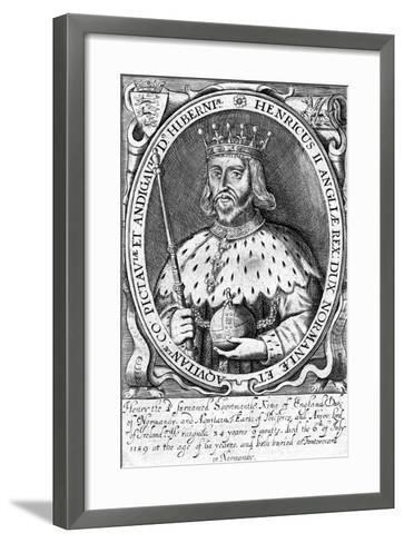 Henry II, King of England--Framed Art Print