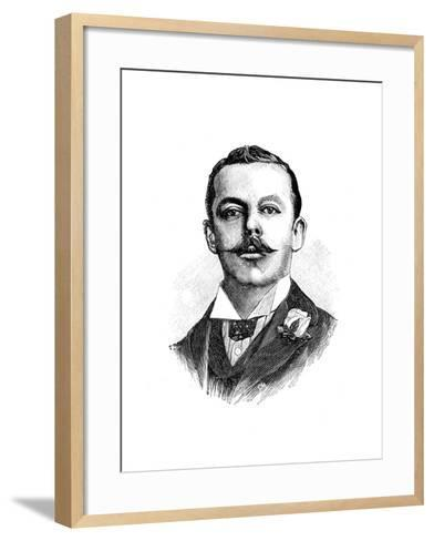 Harry John Lawson, English Inventor of a Safety Bicycle, 19th Century--Framed Art Print