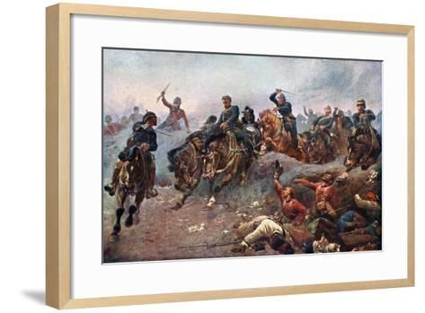 British Artillery Entering the Enemy Lines at Tel-El-Kebir, 1882-John Charlton-Framed Art Print