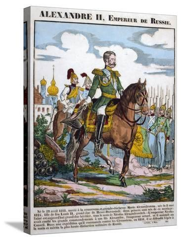 Alexander II, Tsar of Russia, Reviewing Troops, C1855--Stretched Canvas Print