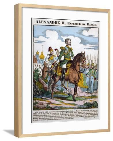 Alexander II, Tsar of Russia, Reviewing Troops, C1855--Framed Art Print