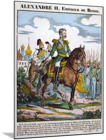 Alexander II, Tsar of Russia, Reviewing Troops, C1855--Mounted Giclee Print
