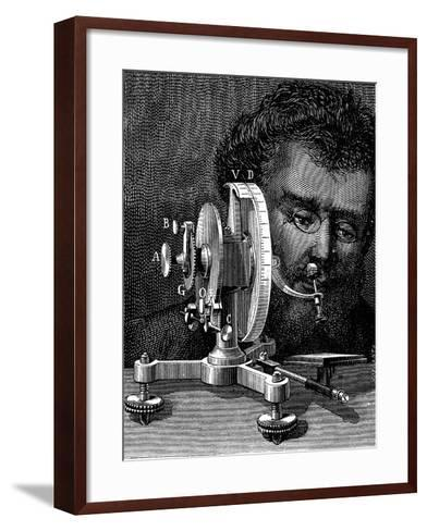 William Wollaston's Reflecting Goniometer for Measuring the Angles of Crystals, 1874--Framed Art Print