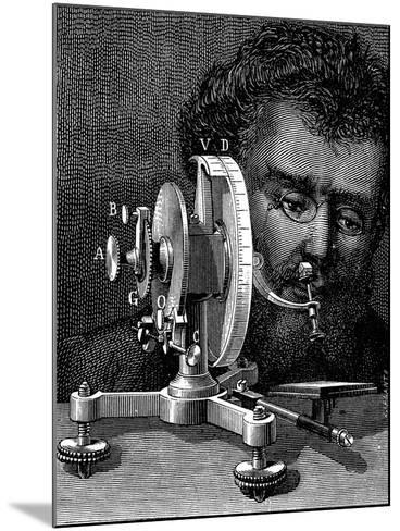 William Wollaston's Reflecting Goniometer for Measuring the Angles of Crystals, 1874--Mounted Giclee Print