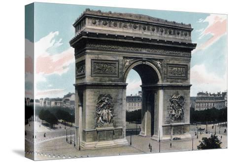 Arc De Triomphe, Paris, C1900--Stretched Canvas Print