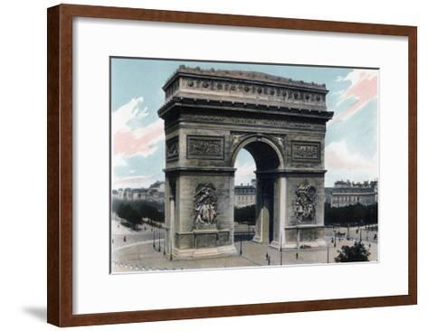 Arc De Triomphe, Paris, C1900--Framed Art Print