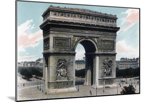 Arc De Triomphe, Paris, C1900--Mounted Giclee Print