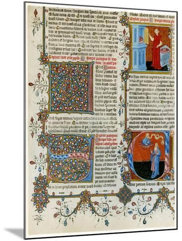 Illuminated Initial Letters with Scenes from the Life of St Jerome, Late 14th Century--Mounted Giclee Print