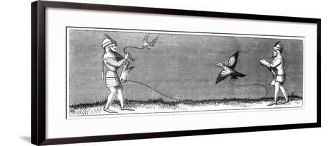 How to Train a Young Falcon, 14th Century--Framed Art Print