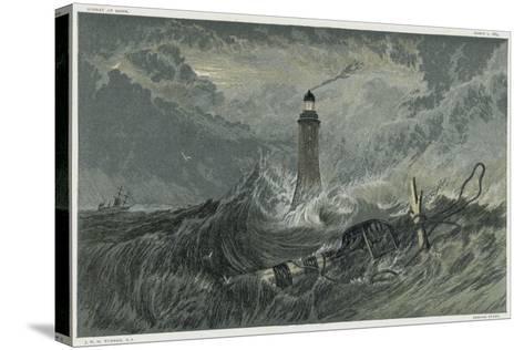 Third Eddystone Lighthouse, 19th Century-J^ M^ W^ Turner-Stretched Canvas Print
