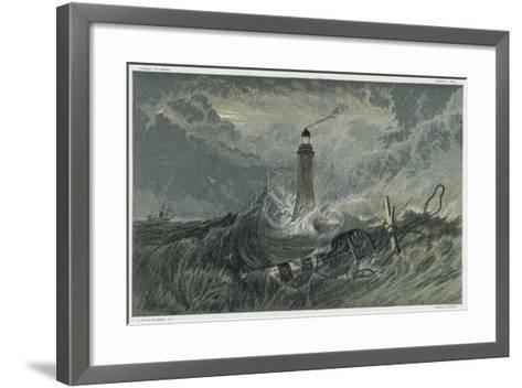 Third Eddystone Lighthouse, 19th Century-J^ M^ W^ Turner-Framed Art Print