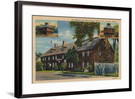 Fort Western and Block Houses, Augusta, Maine, 1920S--Framed Art Print