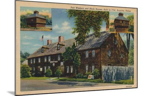 Fort Western and Block Houses, Augusta, Maine, 1920S--Mounted Giclee Print