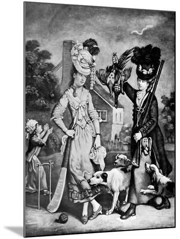 Miss Wicket and Miss Trigger, 1770-John Collet-Mounted Giclee Print