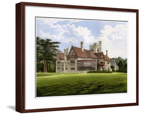 Cowdray Park, Sussex, Home of the Earl of Egmont, C1880-AF Lydon-Framed Art Print