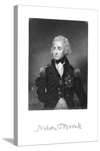 Horatio Nelson, 1st Viscount Nelson, English Naval Commander--Stretched Canvas Print