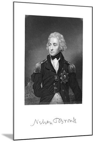 Horatio Nelson, 1st Viscount Nelson, English Naval Commander--Mounted Giclee Print