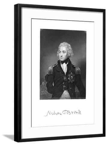 Horatio Nelson, 1st Viscount Nelson, English Naval Commander--Framed Art Print