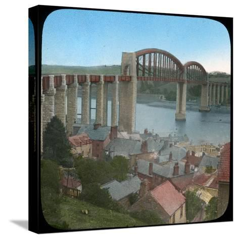 Royal Albert Bridge, Saltash, Cornwall, Late 19th or Early 20th Century--Stretched Canvas Print