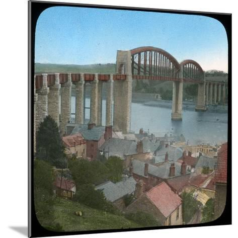Royal Albert Bridge, Saltash, Cornwall, Late 19th or Early 20th Century--Mounted Giclee Print
