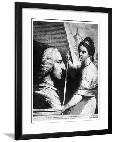 William Pitt, Earl of Chatham, British Politician, 18th Century-James Barry-Framed Art Print