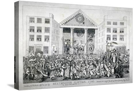 Westminster Election, 1780--Stretched Canvas Print