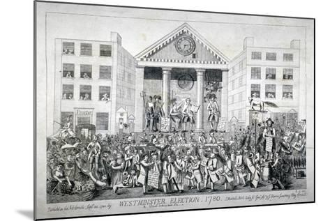 Westminster Election, 1780--Mounted Giclee Print