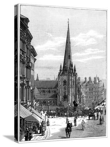 Church of St Martin in the Bull Ring, Birmingham, West Midlands, 1887--Stretched Canvas Print