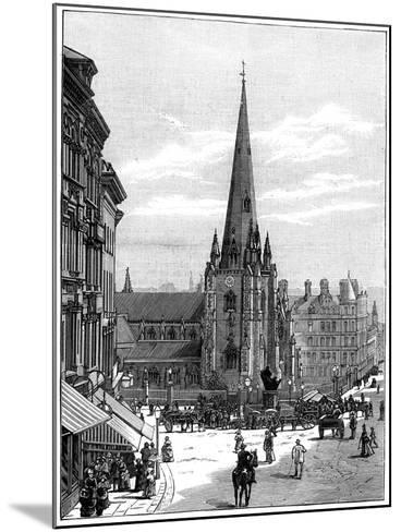 Church of St Martin in the Bull Ring, Birmingham, West Midlands, 1887--Mounted Giclee Print