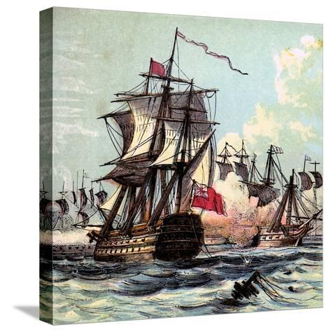 Lord Howe's Victory, 1794--Stretched Canvas Print