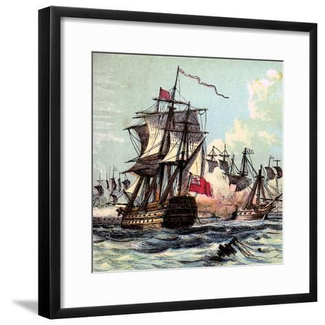 Lord Howe's Victory, 1794--Framed Art Print