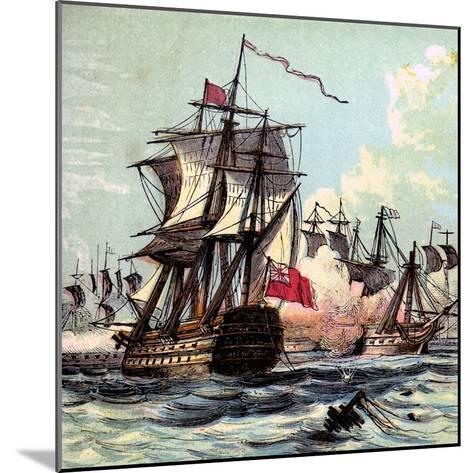 Lord Howe's Victory, 1794--Mounted Giclee Print