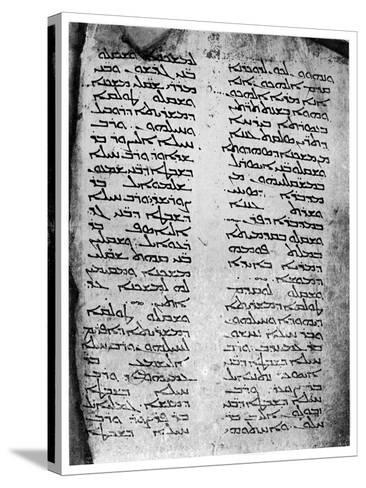Syriac Version of the Pentateuch, 1926--Stretched Canvas Print