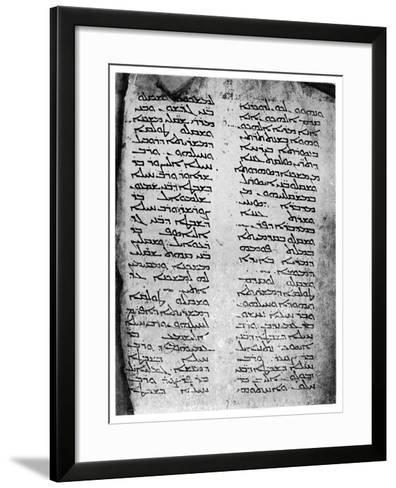 Syriac Version of the Pentateuch, 1926--Framed Art Print