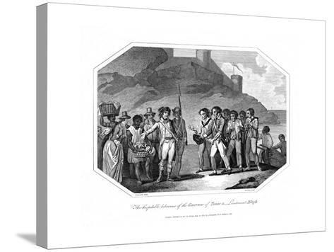William Bligh, British Naval Officer Received by the Governor of Timor, 14 June 1789--Stretched Canvas Print