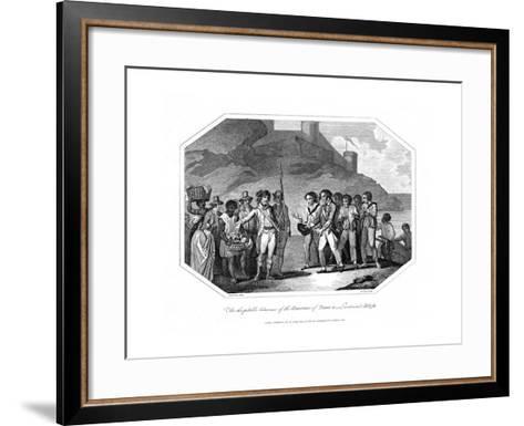William Bligh, British Naval Officer Received by the Governor of Timor, 14 June 1789--Framed Art Print