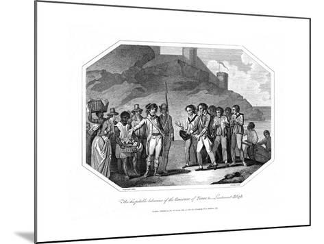William Bligh, British Naval Officer Received by the Governor of Timor, 14 June 1789--Mounted Giclee Print