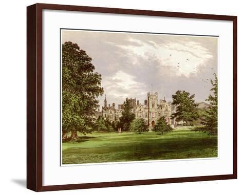 Preston Hall, Kent, Home of the Brassey Family, C1880-Benjamin Fawcett-Framed Art Print